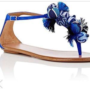 Aquazzura Tropicana Suede T-Strap Sandals